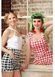 Collectif Lottie Vintage Gingham 50's Top Rood