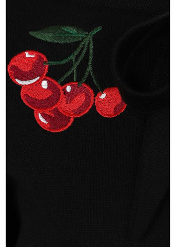 Collectif Charlene Cherries 50's Cardigan Zwart