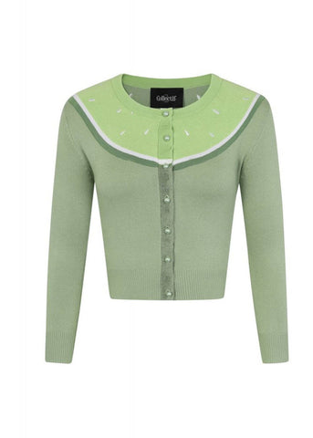 Collectif Jessie Lime 50's Cardigan Groen