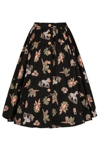 Hell Bunny Messina 50's Swing Rok Zwart