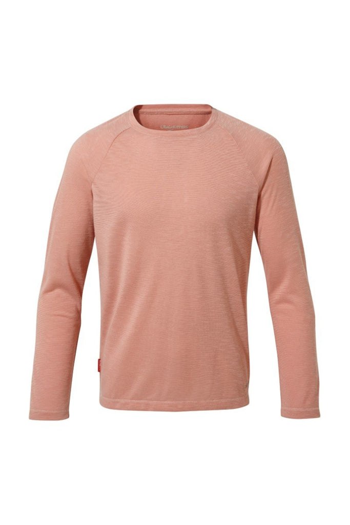 Craghoppers Expert Range NosiLife Girls Paola Long Sleeved T-Shirt CKT562 Rosette Slub