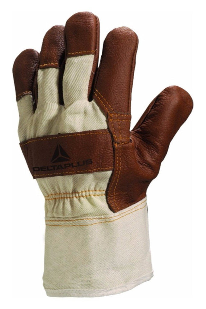 Delta Plus White Cloth Furniture Leather Grain Glove DR605