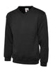 Uneek Children 300GSM V-neck Sweatshirt UC206 black