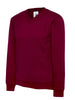 Uneek Children 300GSM V-neck Sweatshirt UC206 maroon