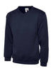 Uneek Children 300GSM V-neck Sweatshirt UC206 navy