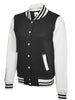 Uneek Ladies 300GSM Varsity Jacket UC526 black white