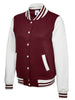 Uneek Ladies 300GSM Varsity Jacket UC526 maroon white