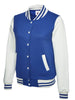 Uneek Ladies 300GSM Varsity Jacket UC526 royal blue white