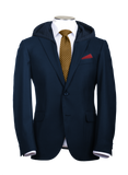 Navy Blue Hooded Suit Jacket