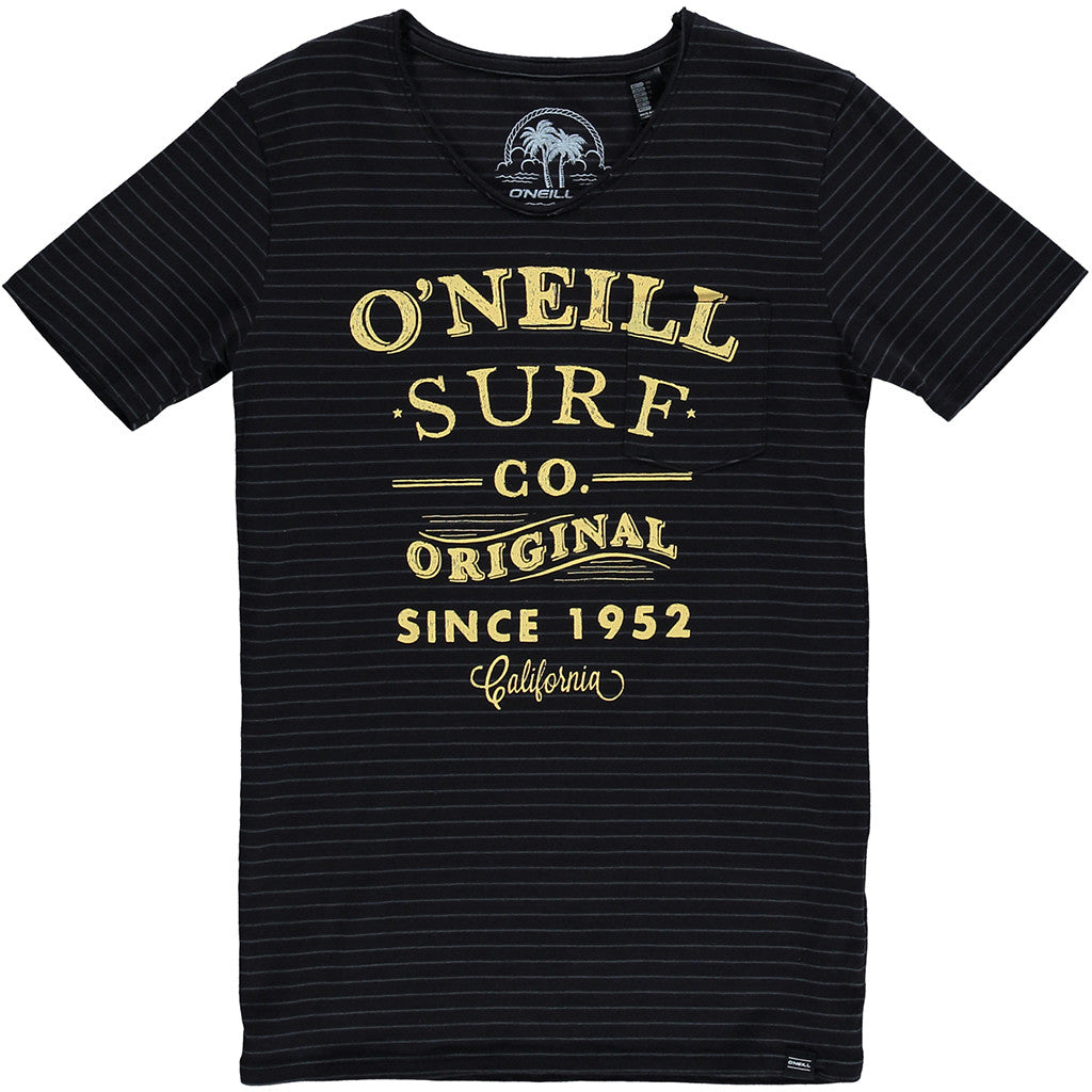 Arc T-Shirt Black Aop - Stoked Boardshop