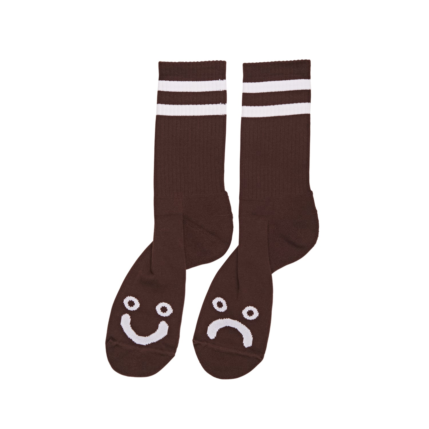 Happy Sad socks Brown