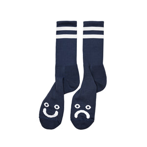 Happy Sad socks Navy