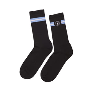 Stroke Logo Socks Black/ Dusty blue / White