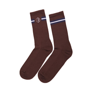 Stroke Logo Socks Brown/Blue