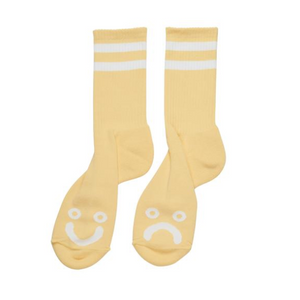 Happy Sad Socks Light Yellow
