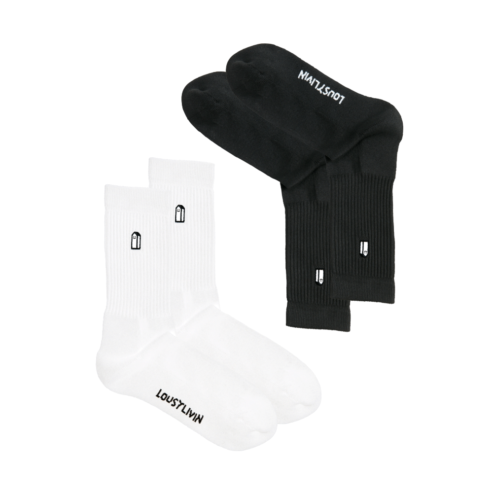 Street court 2 pack socks Black/white