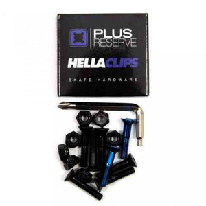 Universal Black/blue hardware set 1""
