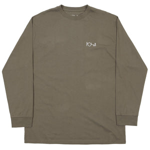 Script Long Sleeve Dusty Olive