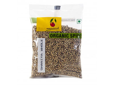 Organic Dhania / Coriander Whole (Health Fields)