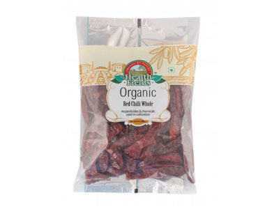 Organic Red Chilli Whole / Lal Mirch (Health Fields)