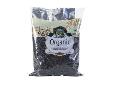Organic Urad Dal / Black Gram - Whole (Health Fields)