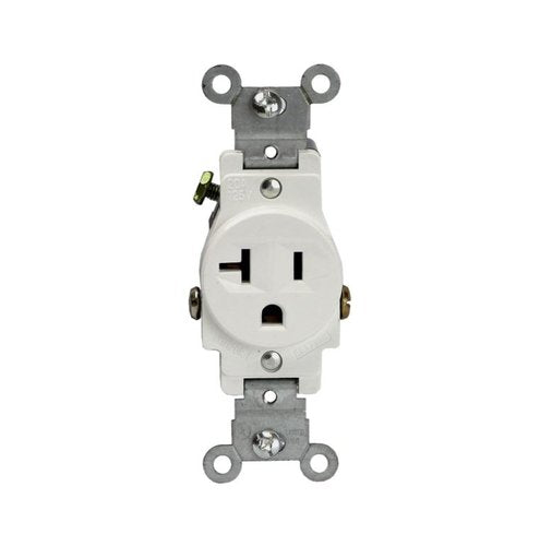 Enerlites Industrial Grade, Single Receptacle, 20A, 250V, White (61210-W)