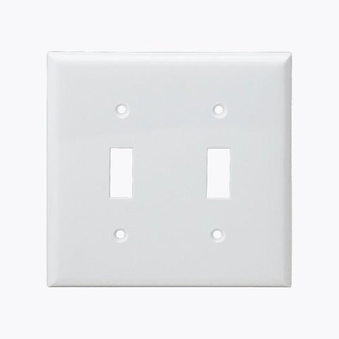 Enerlites Residential Grade, Toggle Switch Plate, 2-Gang, White (8812-W)