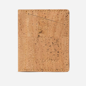 SLIM CORK WALLET-LIGHT BROWN
