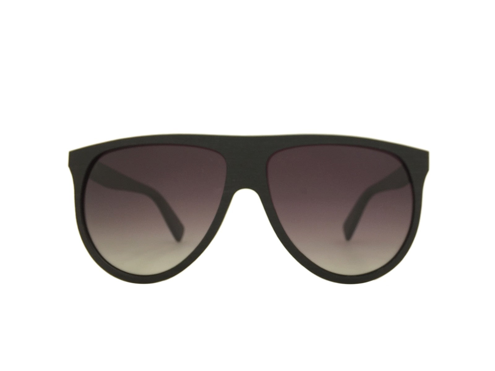 Ebony Wood Sophia Aviator Sunglasses