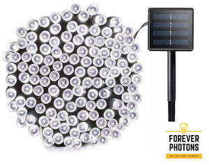 200 LEDs Solar String Lights, Cool White, 72ft, 8 Modes, Outdoors use, Gardening use, Upgraded Solar Panel, Free Shipping - ForeverPhotons