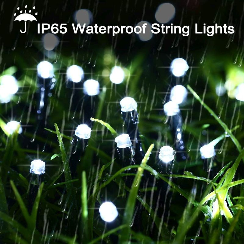 Solar Powered 200 LED String Lights, 72ft, Outdoors Use