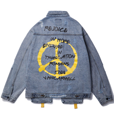 PEACE DENIM JACKET
