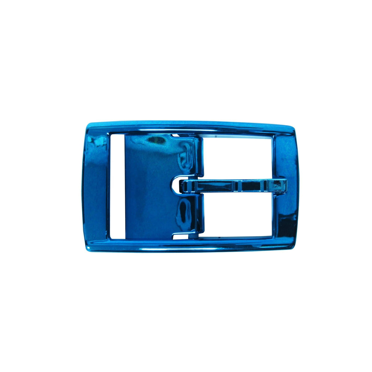 Blue Chrome Classic Buckle