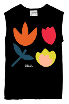 Rxmance Black Buds Muscle Tee