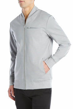 2(X)IST Cement-Grey Modern Classic Track Jacket