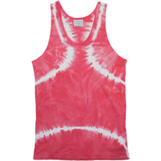 Rxmance Faded Red Tie Dye Tank Top