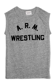 Rxmance Unisex Grey Arm Wrestling Muscle T