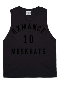 Rxmance Unisex Black Muskrats Muscle Tee