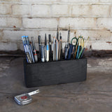 Blackened Desk Caddy Organizer