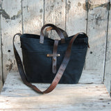 Peg and Awl Waxed Canvas Tote, unisex everyday bag, diaper bag