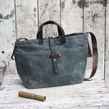 Antique Leather Waxed Canvas Tote