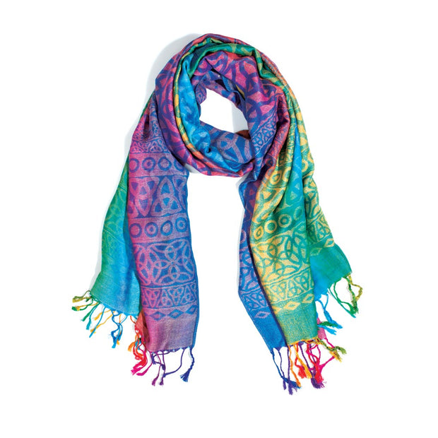 Rainbow Celtic Scarf