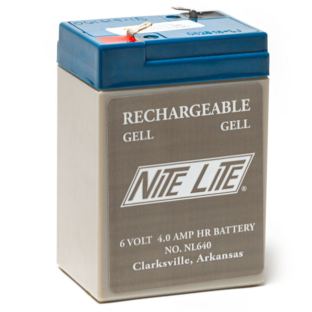 Nite Lite Rechargeable 6 Volt 4 Amp Battery For Nite Sport