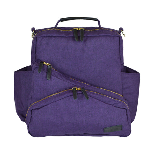 Out & About Purple Convertible Backpack Diaper Bag Front