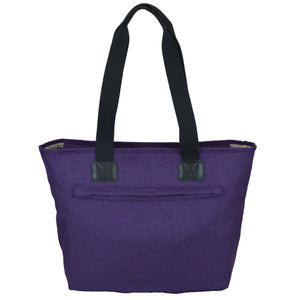 Toting & Doting Purple Tote Diaper Bag Back