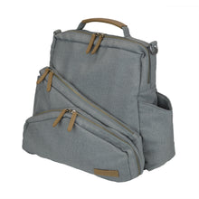 Out & About Gray Convertible Backpack Diaper Bag Side