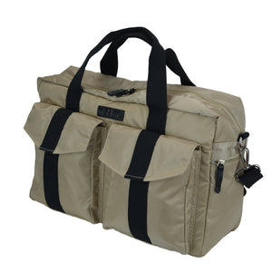 All Aboard Tan Unisex Diaper Bag Right