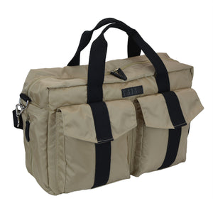All Aboard Tan Unisex Diaper Bag Left