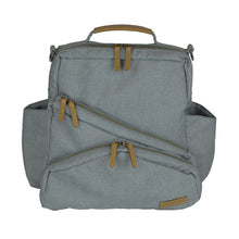 Out & About Gray Convertible Backpack Diaper Bag Front