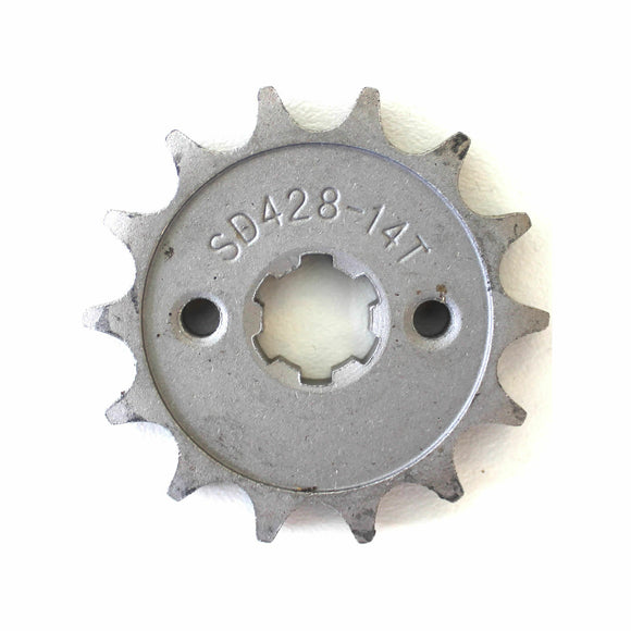 14T Teeth 17mm 428 Chain Front Sprocket Cog PIT TRAIL QUAD DIRT BIKE ATV BUGGY